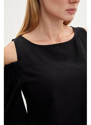 DeFacto Omuz Detaylı Bluz Siyah